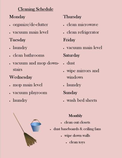 my-cleaning-schedule