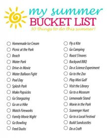 summer bucket list 4